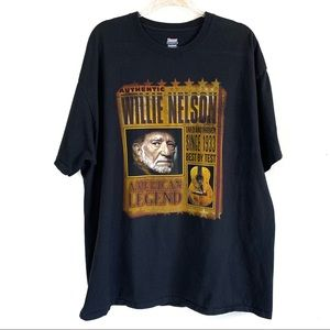 Willie Nelson Black Double Sided Graphic Tee